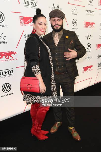 Miyabi Kawai and Manuel Cortez attend the New Faces Award Style 2017 at The Grand on November 15 2017 in Berlin Germany