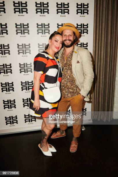 Miyabi Kawai and Manuel Cortez attends the Riani after show party during the Berlin Fashion Week Spring/Summer 2019 at Grace Hotel Zoo on July 4 2018...