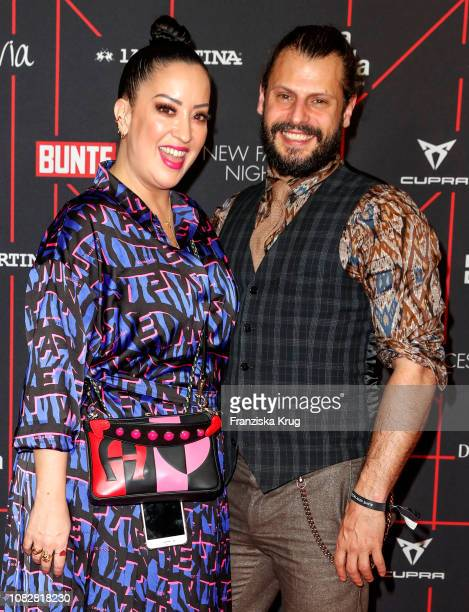 Miyabi Kawai and Manuel Cortez during the Bunte New Faces Night at Layla on January 14 2019 in Berlin Germany