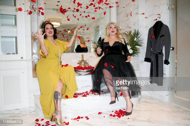 Miyabi Kawai and plus size model and presenter Caterina Pogorzelski during the Ritz Carlton Berlin ReOpening Party at Ritz Carlton on March 5 2019 in...