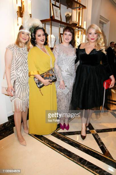 Miyabi Kawai German Blogger Vreni Frost plus size model and presenter Caterina Pogorzelski and guest during the Ritz Carlton Berlin ReOpening Party...