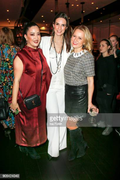 Miyabi Kawai Katrin Wrobel and Nova Meierhenrich during the Bunte New Faces Night at Grace Hotel Zoo on January 15 2018 in Berlin Germany