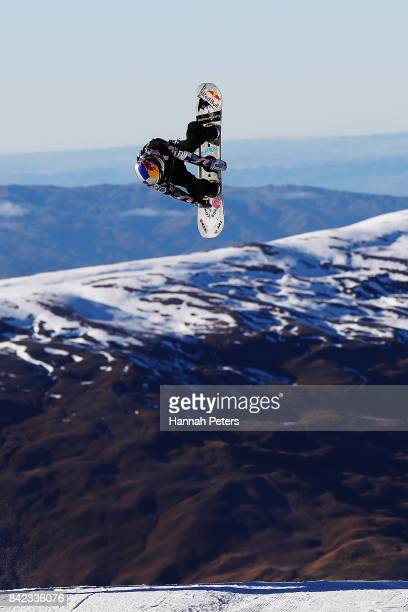 Miyabi Onitsuka of Japan competes during Winter Games NZ FIS Women's Snowboard World Cup Slopestyle Finals at Cardrona Alpine Resort on September 4...