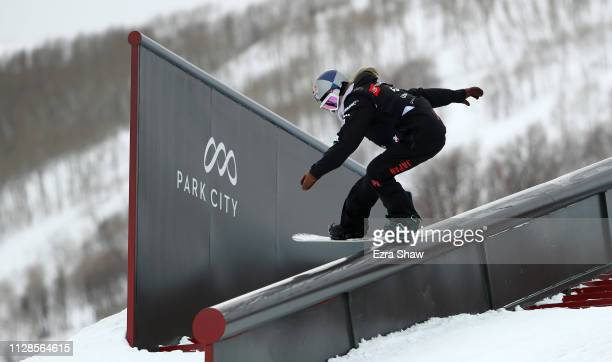 Miyabi Onitsuka of Japan competes in the Ladies' Snowboard Slopestyle Qualification at the FIS Snowboard World Championships on February 09 2019 at...
