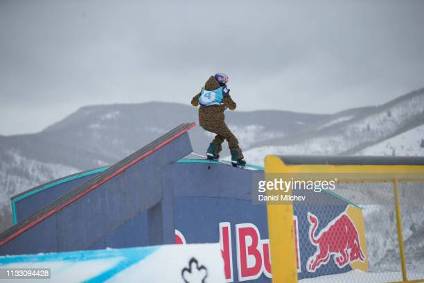 Miyabi Onitsuka of Japan in action during Women's slopestyle finals during the Burton US Open Championships at Golden Peak on March 1 2019 in Vail...