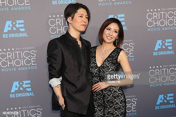 Miyavi and Melody Ishihara attend the 20th annual Critics' Choice Movie Awards at the Hollywood Palladium on January 15, 2015 in Los Angeles,...