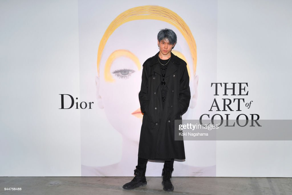 Miyavi attends Dior's The Art of Color Press Preview on April 11, 2018 in Tokyo, Japan.