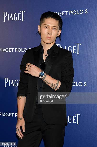Miyavi attends the Piaget new timepiece launch at the Duggal Greenhouse on July 14 2016 in New York City