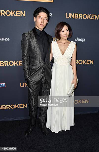 "Miyavi , Melody Ishihara arrive at the Premiere Of Universal Studios' ""Unbroken"" at TCL Chinese Theatre on December 15, 2014 in Hollywood, California."