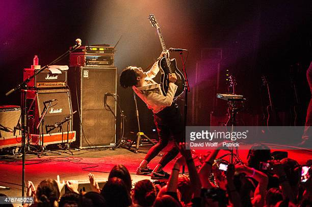 Miyavi performs at La Cigale on March 14, 2014 in Paris, France.