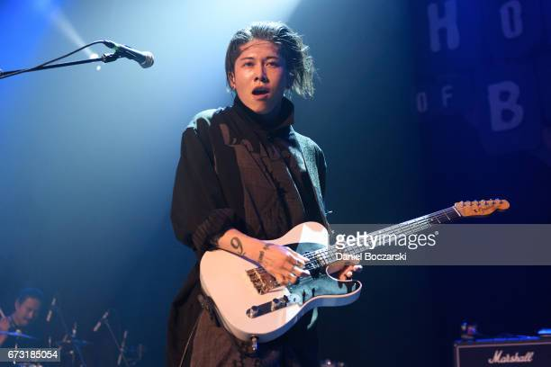 Miyavi performs during Asia On Tour at House Of Blues Chicago on April 25 2017 in Chicago Illinois