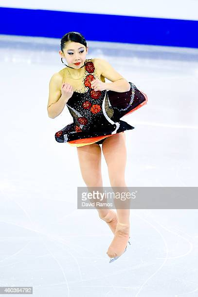 Miyu Nakashio of Japan competes in the Junior Ladies Free Skating Final during day two of the ISU Grand Prix of Figure Skating Final 2014/2015 at...