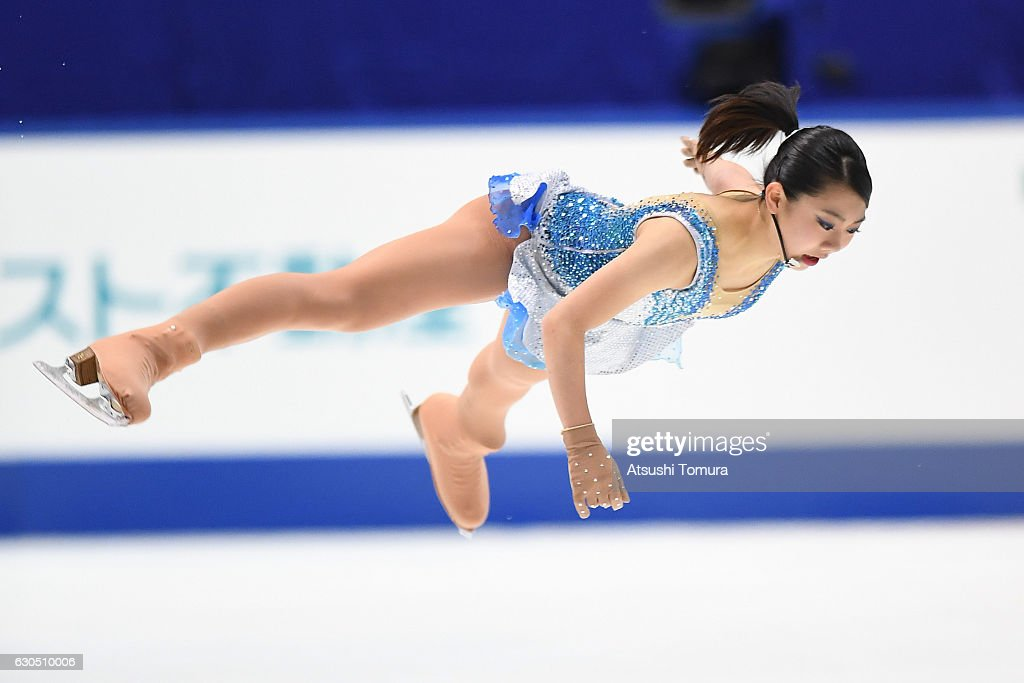 Miyu Nakashio of Japan competes in the Ladies free skating during the Japan Figure Skating Championships 2016 on December 25, 2016 in Kadoma, Japan.