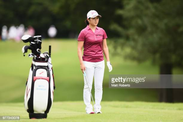 Miyu Shinkai of Japan looks on during the final round of the Nichirei Ladies at the Sodegaura Country Club Shinsode Course on June 17 2018 in Chiba...