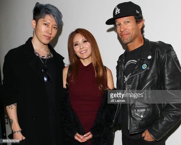 Miyuki Ishikawa and singer Miyavi attend the after party of Endangered Spirit's 'Bunker77' on November 01 2017 in Santa Monica California