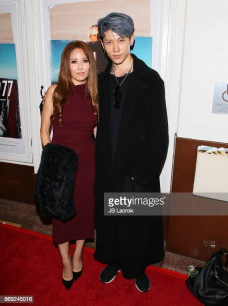 Miyuki Ishikawa and singer Miyavi attend the premiere of Endangered Spirit's 'Bunker77' on November 01 2017 in Santa Monica California
