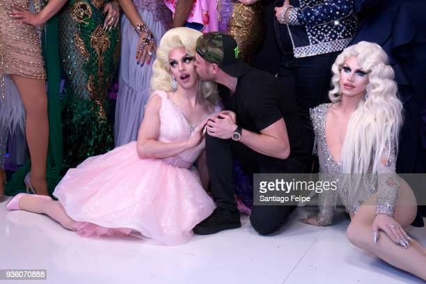 Miz Cracker Gus Kenworthy and Aquaria attend 'RuPaul's Drag Race' Season 10 Meet The Queens at TRL Studios on March 21 2018 in New York City