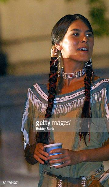 Mizio Peck returns as Sacagawea on location for Night at the Museum 2 at The Museum of Natural History on August 19 2008 in New York City