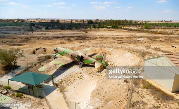 Mizpe Revivim Fortress in kibbutz Revivim in the Negev desert in southern Israel The community was formed in 1943 as one of the three lookouts and...