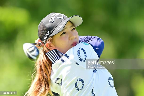 Mizuki Tanaka of Japan plays a shot on the 12th hole during a practice round ahead of the Nitori Ladies Golf Tournament at the Otaru Country Club on...