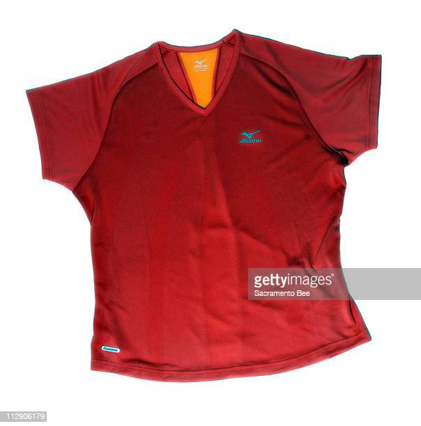 Mizuno Aero tee in 100 percent Dryscience jacquard polyester All items shown available at Fleet Feet Sports