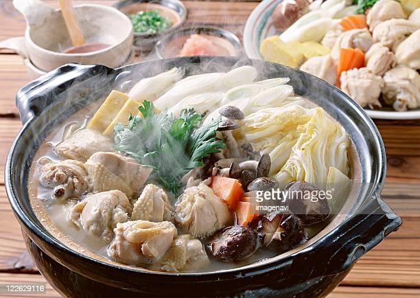 mizutaki - shimeji mushroom stock pictures, royalty-free photos & images