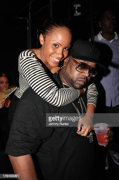 Mizz DR and DJ Kay Slay attend DJ KaySlay's Straight Stuntin Magazine party at Sue's Rendezvous on October 11 2011 in Mount Vernon New York