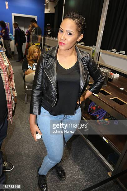 Mizz DR attends Drake's CD signing at Best Buy on September 24 2013 in New York City