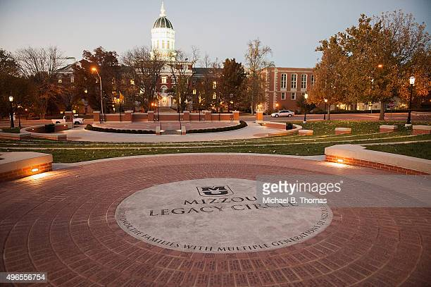 Mizzou Legacy Circle at the Mel Carnahan quad on the campus of University of Missouri Columbia is seen on November 10 2015 in Columbia Missouri The...