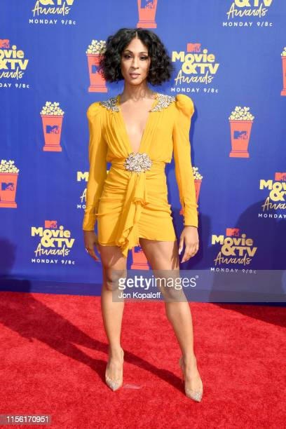 Mj Rodriguez attends the 2019 MTV Movie and TV Awards at Barker Hangar on June 15, 2019 in Santa Monica, California.
