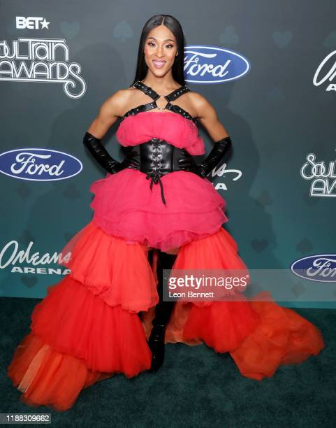 Mj Rodriguez attends the 2019 Soul Train Awards presented by BET at the Orleans Arena on November 17 2019 in Las Vegas Nevada