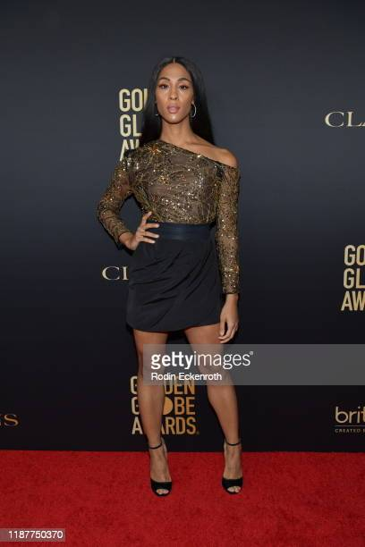 Mj Rodriguez attends the HFPA And THR Golden Globe ambassador party at Catch LA on November 14 2019 in West Hollywood California