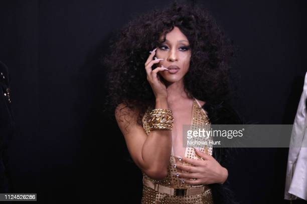 Mj Rodriguez poses backstage for The Blonds fashion show during New York Fashion Week The Shows at Gallery I at Spring Studios on February 12 2019 in...