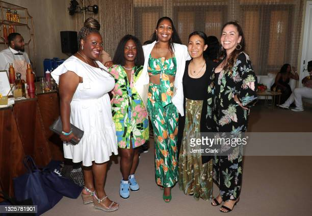 Mjeema Pickett, Phylicia Fant, Marquetta Moore, Caroline Yim and Erika Montez attend the Culture Creators Innovators & Leaders Awards at The Beverly...