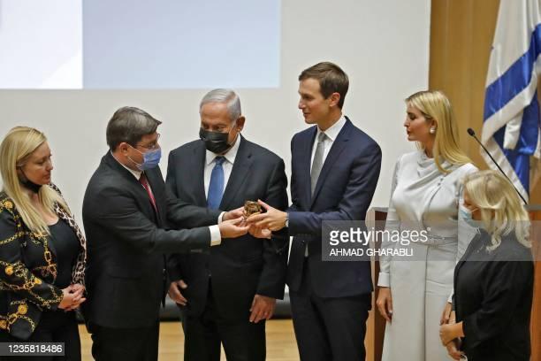 MKs Ruth Wasserman Lande, Ofir Akunis, Israel's Opposition leader and ex-premier Benjamin Netanyahu, US businessman and former Trump-administration...