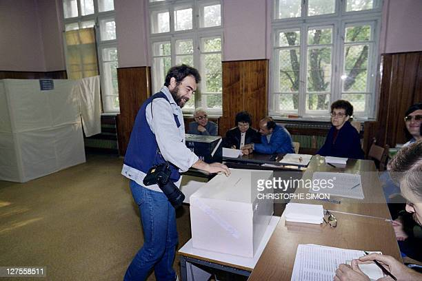 Mladen Antonov a photojournalist casts his vote on February 1992 in Sofia during general election for new Parliament Like the other postCommunist...