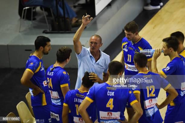 Mladen Kasic Coach of Nice during the Volleyball friendly match on September 22 2017 in Montpellier France