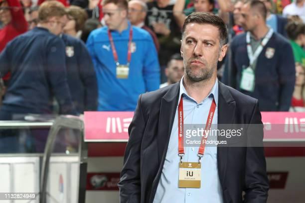 Mladen Krstajic of Serbia during the 2020 UEFA European Championships qualifying match between Portugal and Ukraine at Estadio do Sport Lisboa e...