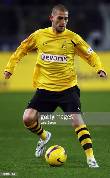 Mladen Petric of Dortmund in action during the Bundesliga match between Borussia Dortmund and Arminia Bielefeld at the Signal Iduna Park on December...