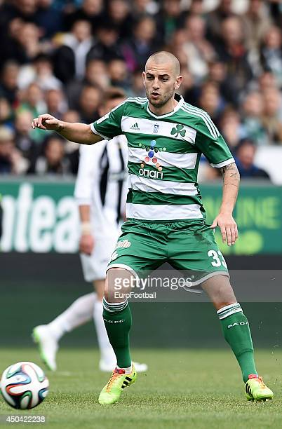 Mladen Petric of Panathinaikos in action during the Greek Cup semifinal match between Panathinaikos FC and OFI Crete FC at the Apostolos Nikolaidis...