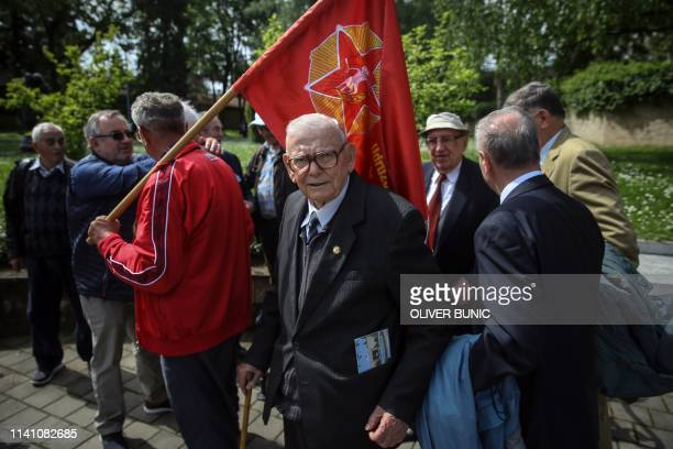 Mladjo Majkic colonel and companion of the Yugoslavia's late Communist President Josip Broz Tito poses for pictures at Tito's memorial complex in...