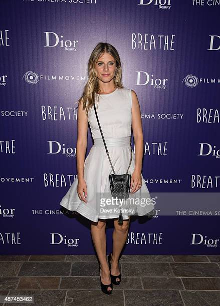 Mélanie Laurent attends a screening of Film Movement's 'Breathe' hosted by The Cinema Society and Dior Beauty at Tribeca Grand Hotel on September 9...