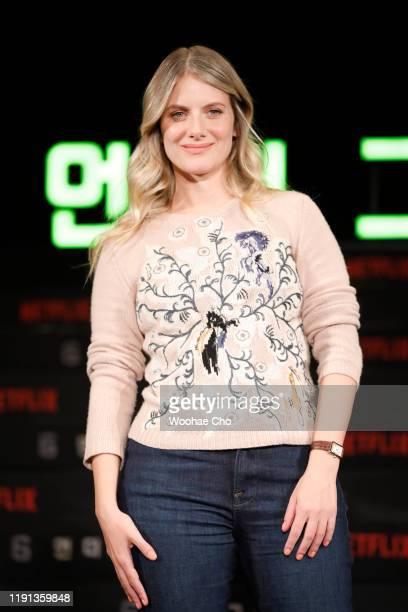 Mélanie Laurent attends the press conference for the world premiere of Netflix's '6 Underground' at Four Seasons Hotel on December 02 2019 in Seoul...