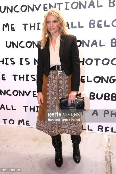 Mélanie Laurent attends the Ruinart & David Shrigley - Unconventional Bubbles Exhibition Opening Party on March 05, 2020 in Paris, France.