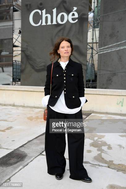 Mélanie Thierry attends the Chloe Womenswear Spring/Summer 2021 show as part of Paris Fashion Week on October 01, 2020 in Paris, France.