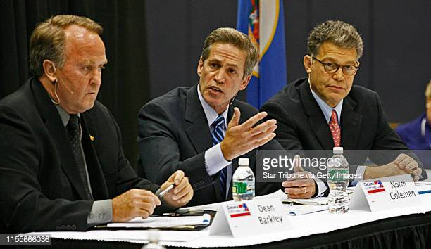 LEVISON * mlevison@startribunecom Assign #00005071A October 5 2008] GENERAL INFORMATION Debate for US Senate seat race Dean Barkley Norm Coleman and...