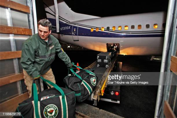 Mlevison@startribune.com March 12, 2010 - GENERAL INFORMATION: A look at the Minnesota Wild equipment management team as they spend the early morning...