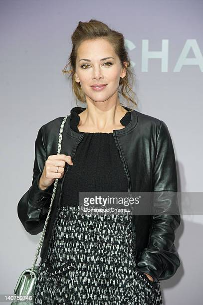 Mélissa Theuriau attends the Chanel ReadyToWear Fall/Winter 2012 show as part of Paris Fashion Week at Grand Palais on March 6 2012 in Paris France