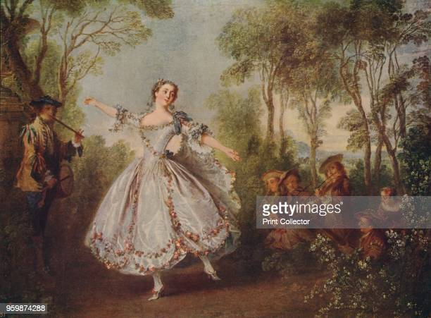 Mlle Camargo Dancing' Part of the Wallace Collection London From International Art Past and Present by Alfred Yockney [Virtue Company London circa...