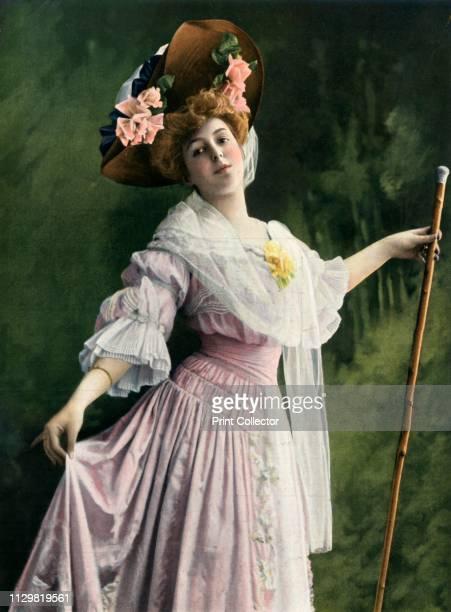 'Mlle Marthe Regnier role de Jacqueline La Passerelle Vaudeville' 1904 Marthe Regnier as Jacqueline in La Passerelle by Francis de Croisset and...